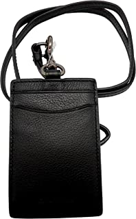 COACH Sport Calf Leather Lanyard ID Badge Holder in Black 58114