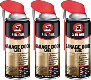 3-IN-ONE Professional Garage Door Lubricant Smart Straw Spray, 11 Ounce (3 Pack)
