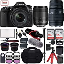 Canon EOS 80D DSLR Camera with EF-S 18-135mm f/3.5-5.6 is USM + Sigma 70-300mm f/4-5.6 DG Macro Lens for Canon EOS & All-in-One Professional Travel Bundle