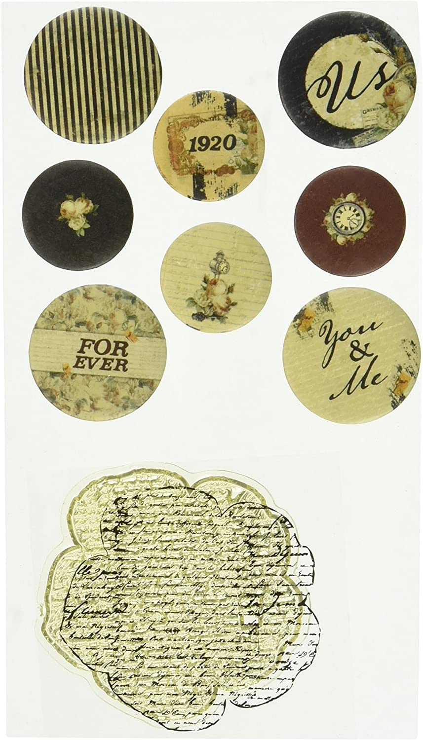 Time Traveler Flair Flair Flair Buttons With 2 X2  Clear Stamp-(4) .75  & (4) 1  B00JL4CESM  | Viele Stile