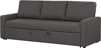 South Shore Live-it Cozy 3-Seat Charcoal Gray Sofa Bed