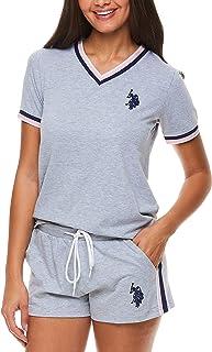 U.S. Polo Assn. Women's Pajama Set Sleepwear 2 Piece Set - Short Sleeve Shirt and Lounge Pajama Shorts