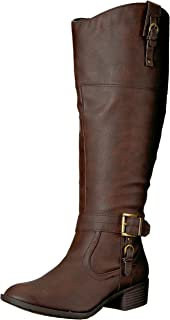Rampage Women's Ivelia Fashion Knee High Casual Riding Boot (Available in Wide Calf)