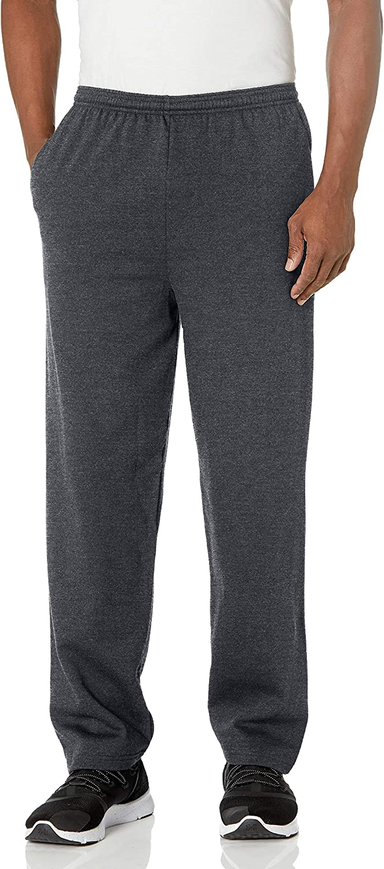 Hanes Men's EcoSmart Open Leg Pant with Pockets