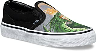 Vans Classic Slip-On (Dragon Flame) Kids Skate Shoe