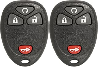 Keyless2Go Keyless Entry Car Key Replacement for Vehicles That Use 4 Button 15913421 OUC60270, Self-programming - 2 Pack