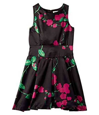 Milly Minis Scoop Neck Dress (Big Kids) (Black/Magenta) Girl