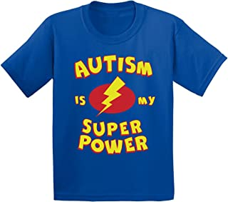 Awkward Styles Autism is My Super Power Youth T Shirts Kids Tees Autism Awareness