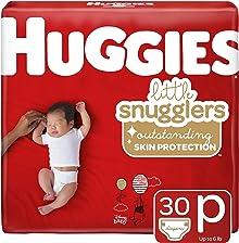 Huggies Little Snugglers Baby Diapers, Size Preemie, 30 Count