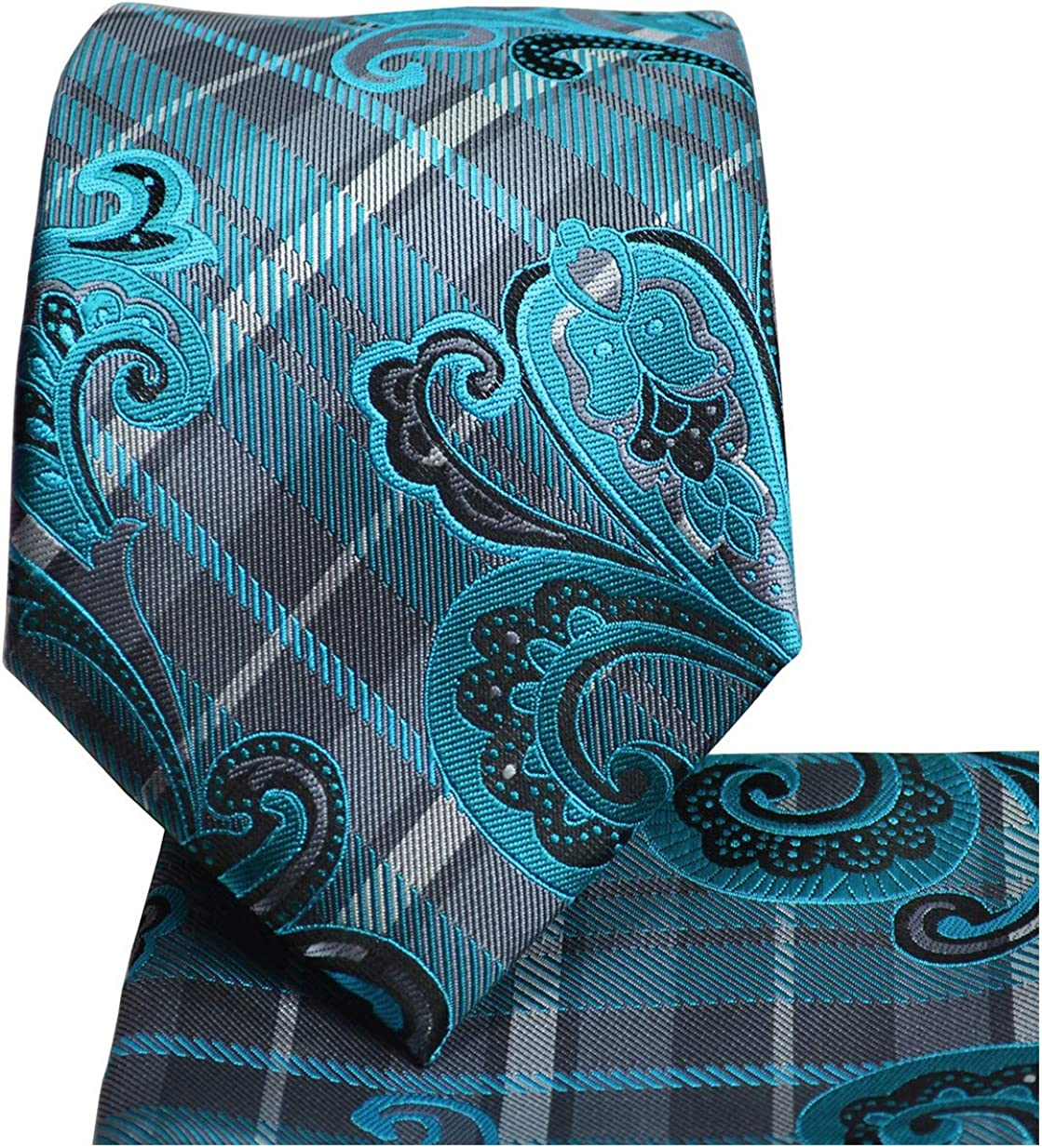 Paisley Tie and Pocket Square Set by Paul Malone