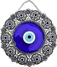 Bead Global Turkish Big Glass Turkish Evil Eye Bead Home Protection Charm-Hanging Ornament Wall Decor (Blue Eye)