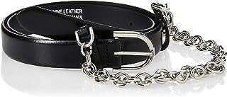 Calvin Klein Women's CHAINED BUCKLE 2.5 Belt, Black, 90 cm