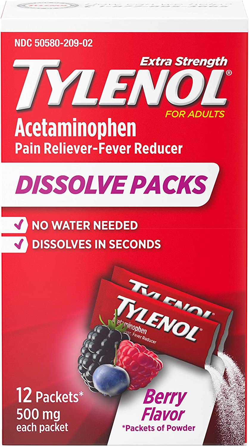 Tylenol Rare Extra Strength NEW before selling ☆ Dissolve Packs with Acetaminophen Pai for