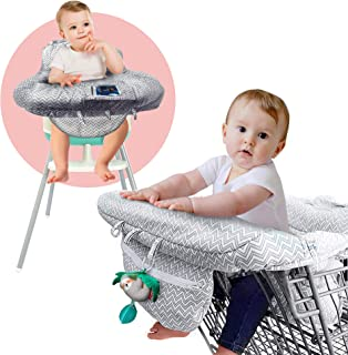 Ashtonbee Shopping Cart Cover, 2 In 1 Baby Grocery Cart Seat Cover And High Chair Cover For Kids And Toddlers