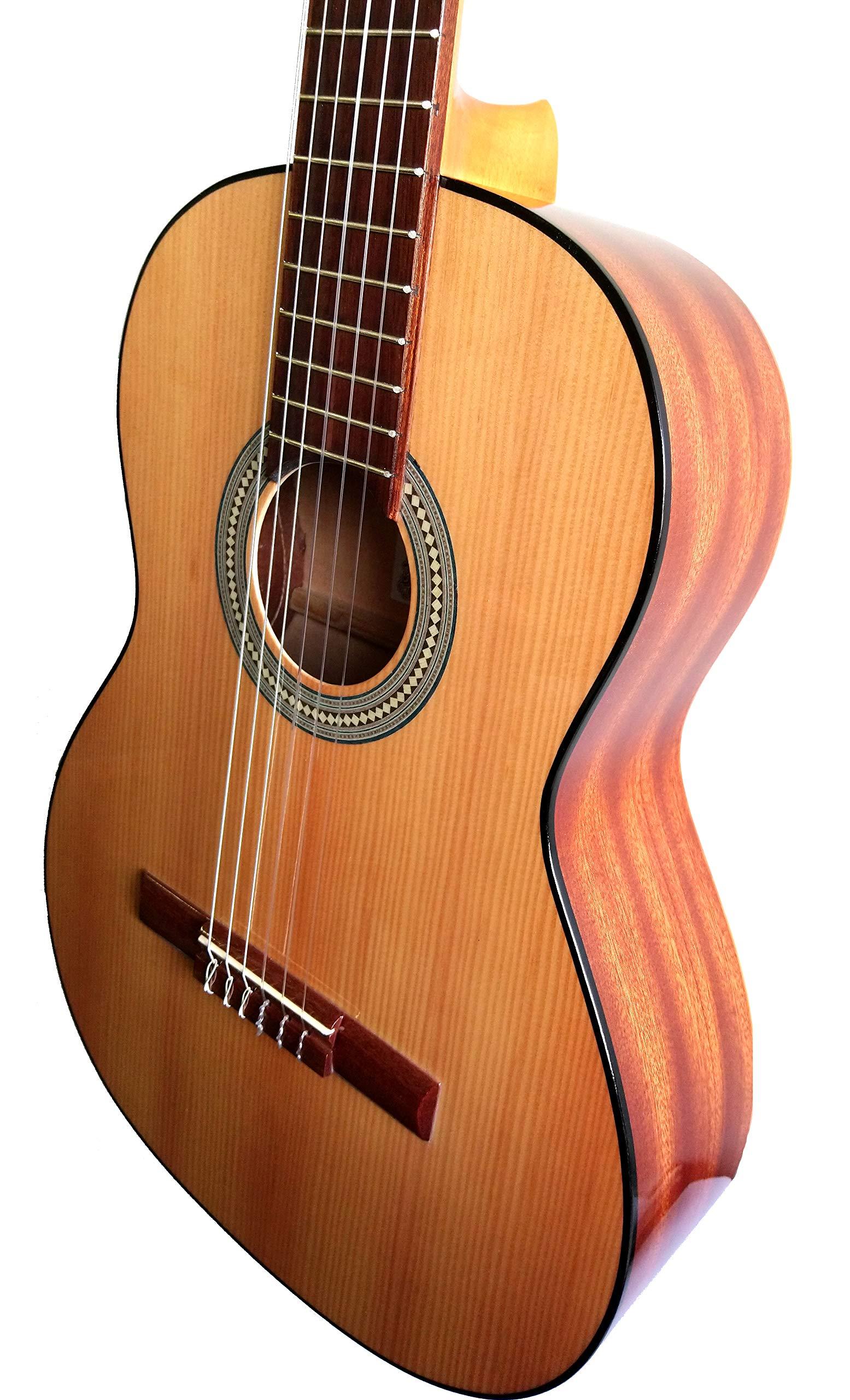 MARCE ADMIRADA + Funda -Guitarra Clasica española de estudio (caja ...