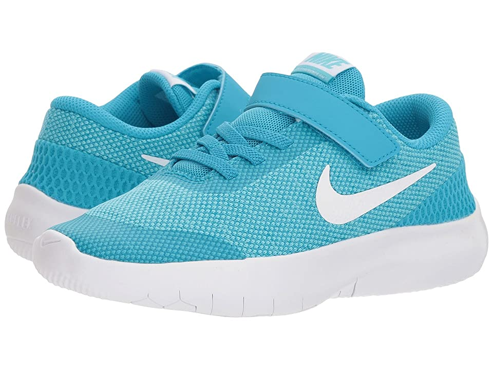 Nike Kids Flex Experience Run 7 (Little Kid) (Light Blue Fury/White/Bleached Aqua) Girls Shoes