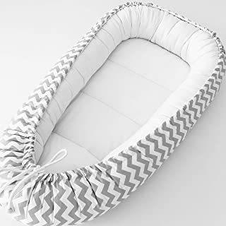 Detachable /& Machine Washable VOLBABY Baby Lounger Nest,Portable Crib and Bassinet Perfect for Co Sleeping,Super Soft and Breathable Newborn Lounger Cushion Suitable from 0-12 Months