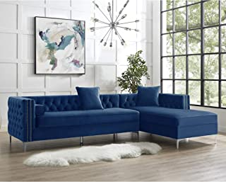 Inspired Home Purple Chaise Sectional Sofa - Design: Giovanni | 115