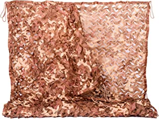 NINAT Desert Camo Netting Camouflage Net Military for Camping Hunting Shooting Sunscreen Nets 6.5x10ft,10x10ft,13x16.5ft,20x20ft