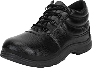 Earton Premium Quality Stylish & Designer Safety Shoes for Men Size: 7 (Colour: Black) 111