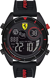 Scuderia Ferrari MEN'S BLACK DIAL BLACK SILICONE WATCH - 830743