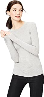 Amazon Brand - Daily Ritual Women's Rib Knit Jersey Long-Sleeve Crew Neck Shirt