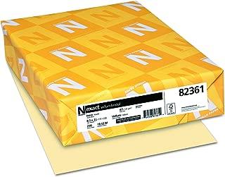 Neenah Exact Vellum Bristol, 67 lb, 8.5 x 11 Inches, 250 Sheets, Ivory