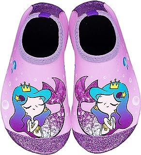 Toddler Water Shoes Kids Quick Dry Water Swim Socks Boys Girls Non Slip Aqua Socks for Beach Swim Pool(Purple Toddler Size 8)