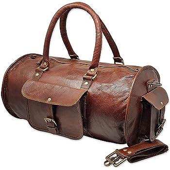 Sac de nuit en Cuir De Voyage Duffle Gym bagages hommes Vintage Week-end GENUINE NEW