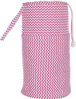 Atyhao Sac de Crochet de Cylindre, Sac de Rangement de Cylindre Rose Fil à Tricoter Laine Crochet Outil Organisateur conte...