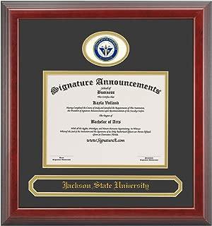 Signature Announcements Jackson-State-University Undergraduate, Sculpted Foil Seal & Name Graduation Diploma Frame 16