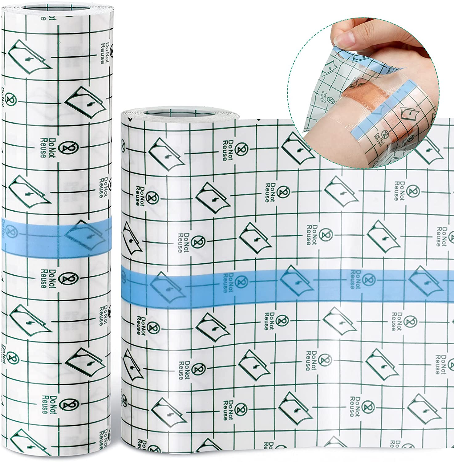 2 Rolls Transparent Max 50% OFF Stretch Bandage Waterproof Adhesive Protecti Limited Special Price