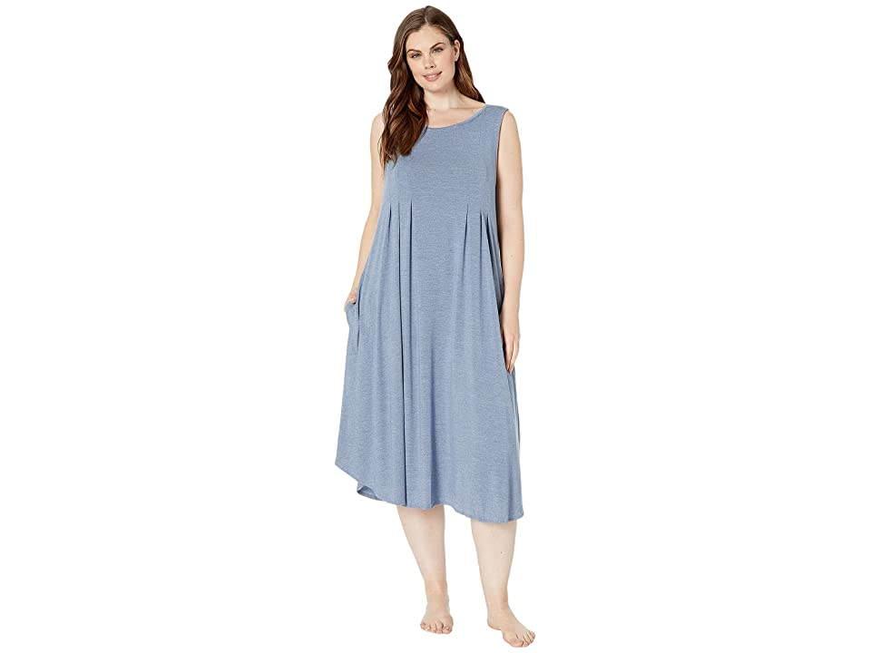 Donna Karan Plus Size 44 Sleeveless Gown (Blue Heather) Women