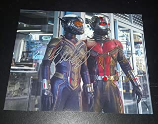 Paul Rudd and Evangeline Lily - Autographed 2x Signed 8.5x11 inch Photograph - ANT-MAN and the WASP