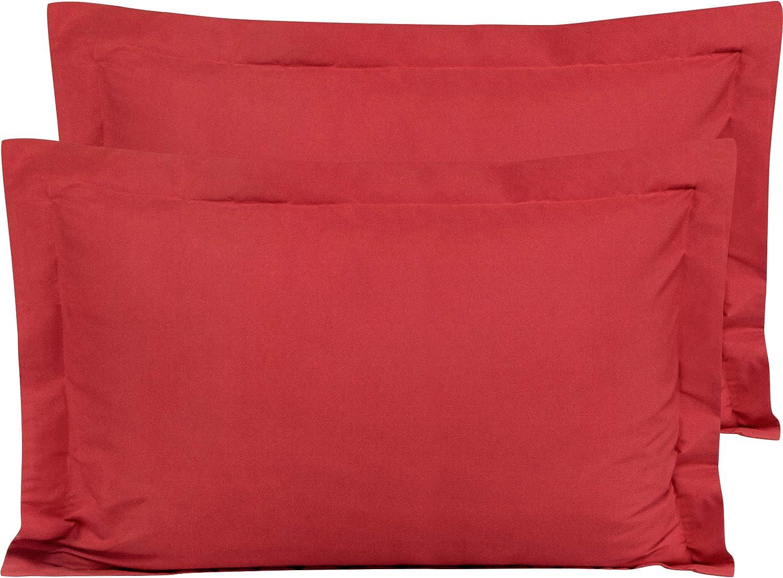 税込 期間限定特価品 2 Decorative Pillow Shams 100% Natural Cover Cushion Cotton Pure