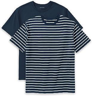 Amazon Essentials Men's Big & Tall 2-Pack Short-Sleeve Crewneck T-Shirt fit by