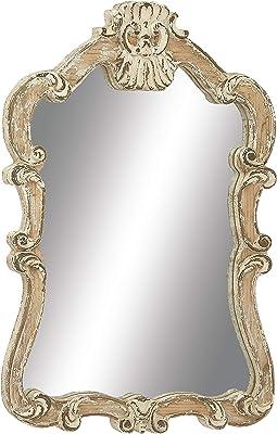 """Deco 79 18197 Wood Wall Mirror, 25"""" x 39"""""""