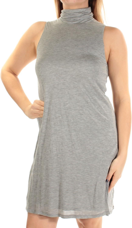 kensie Women's Subtle Slub Mixi Dress with Open Back