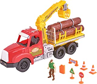 kid connection log hauler playset
