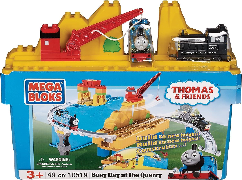 salida de fábrica Mega Bloks - 10519U - Set de construcción    - Día Thomas Ocupado en la cantera  barato y de alta calidad