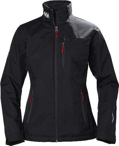 Helly Hansen Wohommes Crew Leightweight Waterproof Breathable Sailing Rain Coat Jacket, 990 noir, Large