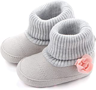 6f0b0301a4fd SCOWAY Baby Boys Girls Fleece Non-Skid Booties Newborn Infant Soft Warm  Crib Shoes Winter