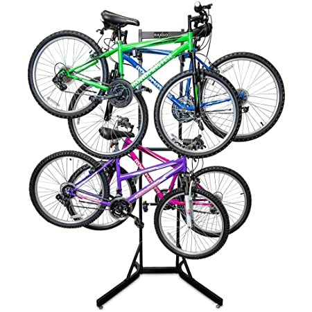 CyclingDeal 2 Bike Bicycle Vertical Hanger Parking Rack Storage Stand for Garage