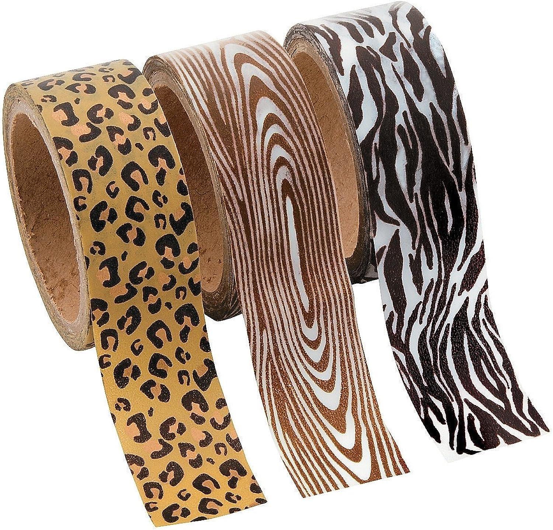 16 Tape Washi Print Animal Ft  Set Unit) Per Rolls (3 Roll