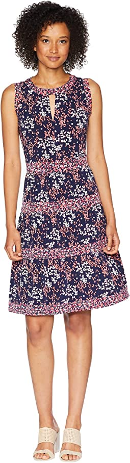 Blooms Border Tier Dress