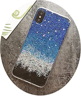 Chibi-Store Glitter Lovely Stars Phone Cover for iPhone 6S Case Silicone Gel for iPhone X 6 7 8 Plus,BE,6 6s