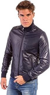 Giacca in pelle uomo CHIODO BIKER Giacca in pelle rossa con cintura e reverse