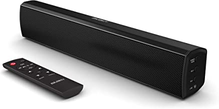 Majority Bowfell Small Sound Bar for TV with Bluetooth, RCA, USB, Optical, AUX connection, Ideal as Mini Sound/Audio System for TV Speakers/Home Theater, Gaming, Computer, Projectors, 50 watt, 15 inch