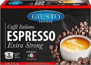 Giusto Sapore Caffe Italiano Espresso Italian Roasted Extra Strong Coffee - 10 Espresso Point Capsules or Pods - Premium Superior Quality Gourmet Brand - Family Owned … (Extra Strong Espresso Points)