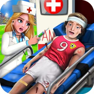 Kids Sports Doctor Surgery Games- Treat Soccer Injured Players in Emergency Hospital Game. Be the Best Surgeon in Sports Doctor Games- Best Soccer Games for Kids